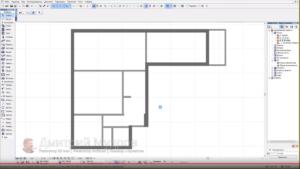 Как построить стены в архикаде
